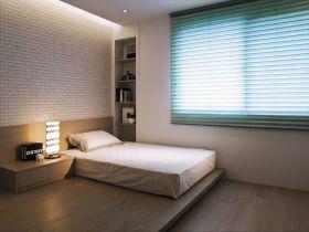 日式米色卧室榻榻米设计图片