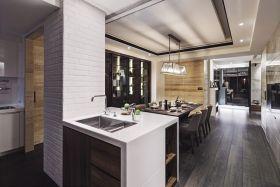 2016大气灰色现代风格吧台装潢设计