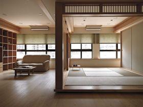 日式简约米色素雅榻榻米设计图
