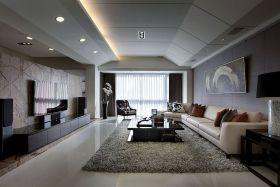 现代黑色摩登客厅效果图