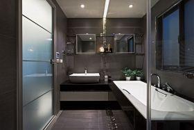 现代风格黑色大气卫生间设计