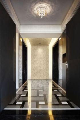 黑色现代走廊过道装修设计案例