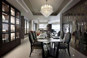 现代风格时尚黑色餐厅装潢案例