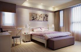 简欧风格清爽米色卧室设计欣赏