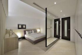 简约大气白色卧室隔断设计案例