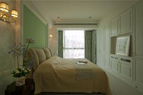 绿色田园风格卧室装修效果图赏析