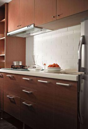 自然个性红色创意简约风格厨房设计装潢