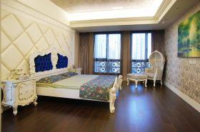 美式清新绿色卧室效果图设计