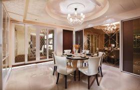 浪漫米色欧式风格餐厅欣赏