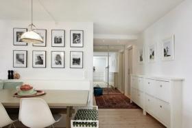 简约时尚白色照片墙装修图片