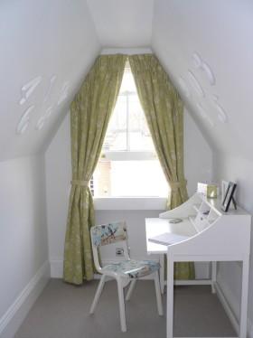 简约风格时尚白色书房效果图欣赏