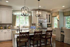 美式清新白色厨房装修效果图
