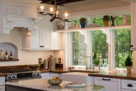 精致明亮田园优雅风格厨房设计图
