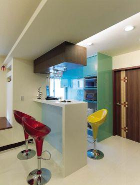 多彩创意混搭风格吧台装潢设计