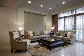 米色雅致新古典客厅图片赏析