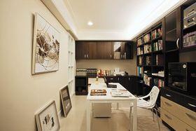 米色素雅文艺现代风格书房设计装潢