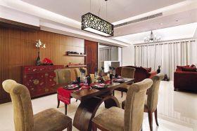 中式风格雅致黄色餐厅图片