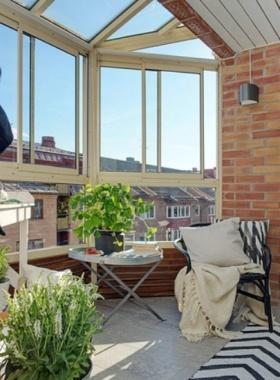 复古清爽现代风格阳台装饰设计图片