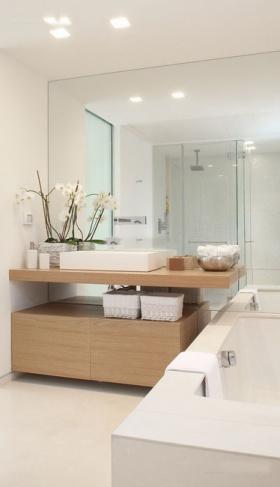 米色简约风格卫生间浴室柜装修效果图