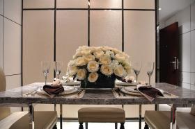 精致简欧风格浪漫餐厅装潢