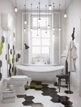 现代风格白色时尚卫生间装潢案例