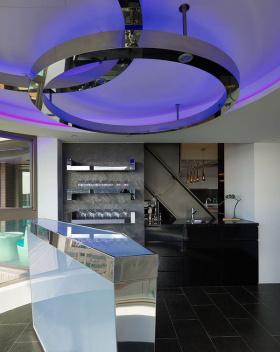 混搭风格紫色吊顶设计图片