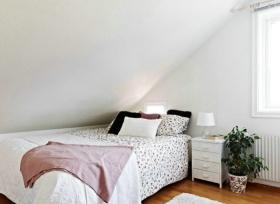 温馨唯美浪漫简约风格白色阁楼设计案例