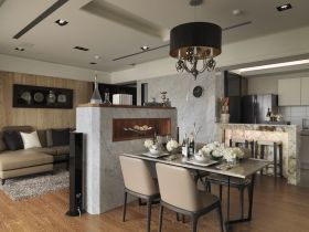 黑色新古典风格雅致餐厅装饰设计图片