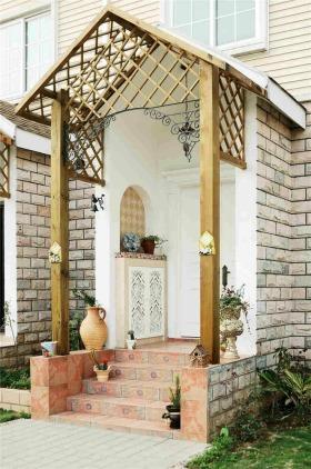 东南亚风格米色玄关装修布置