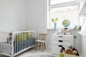 白色混搭风格儿童房装潢美图