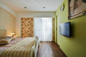 浪漫田园碎花风格绿色卧室设计图片