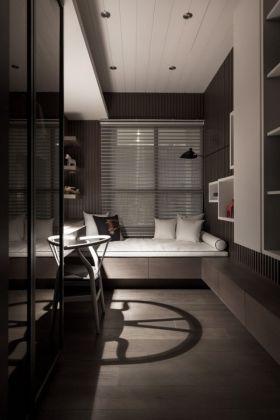 现代雅致凝练灰色飘窗效果图