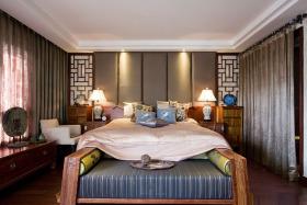 中式风格米色雅致卧室设计图