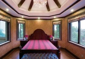 紫色新古典风格卧室图片赏析