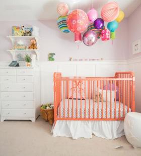 橙色活泼宜家风格儿童房装修图片