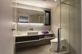 灰色混搭风格卫生间装潢设计