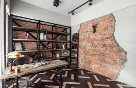 黑色混搭风格休闲书房装饰案例