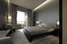 现代风格灰色时尚卧室装修图