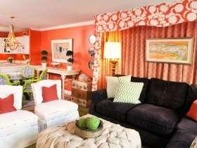 红色混搭客厅装修