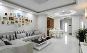 白色素雅简约风格客厅照片墙装修图