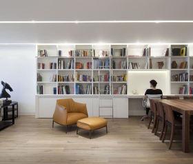 宜家风格米色书房装潢设计