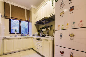 米色个性创意混搭风格厨房橱柜装修