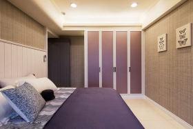 现代时尚大气紫色儿童房设计图
