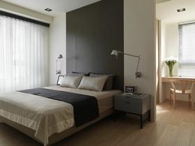 灰色简约时尚卧室设计图片