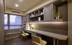灰色现代风格书房装潢案例