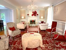 混搭风格红色客厅设计赏析