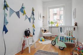 创意混搭白色儿童房装修布置