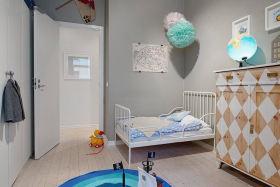 灰色简约极简儿童房装修图片