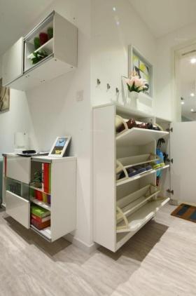 白色简约宜家风鞋柜装潢设计
