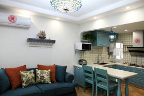 灰色现代风格厨房吧台装修效果图片